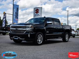 Used 2016 Chevrolet Silverado 1500 High Country Crew Cab 4x4 ~Nav ~Cam ~Roof ~Leather for sale in Barrie, ON