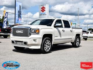 Used 2015 GMC Sierra 1500 Denali Crew Cab 4x4 ~Nav ~Cam ~Heated/Cooled Seats for sale in Barrie, ON