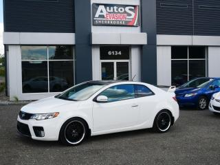 Used 2011 Kia Forte Koup SX + INSPECTÉ + FREINS NEUFS 4 ROUES + TOIT + CUIR for sale in Sherbrooke, QC