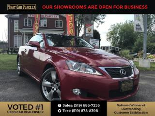 Used 2011 Lexus IS 350 C Rare Find, Heated Seats, Cooled / Air Conditioned Seats, Leather, Cream Leather, Convertible HardTop for sale in London, ON