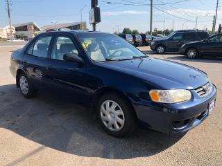 Used 2002 Toyota Corolla CE. ACCIDENT FREE, 3 YR WARRANTY, CERTIFIED for sale in Woodbridge, ON