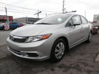 Used 2012 Honda Civic LX for sale in Brampton, ON