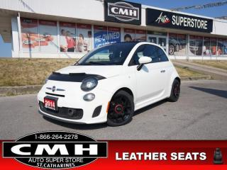 Used 2014 Fiat 500 C Abarth  HTD-SEATS BT NAV LEATH CONVERTIBLE for sale in St. Catharines, ON