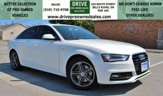Used 2016 Audi A4 2.0T Progressiv plus AWD Heated Leather Sun Roof Bluetooth Backup Cam for sale in Belle River, ON