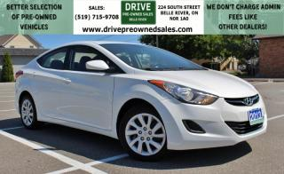 Used 2013 Hyundai Elantra GL Heated Seats Bluetooth Cruise Control Low K's for sale in Belle River, ON