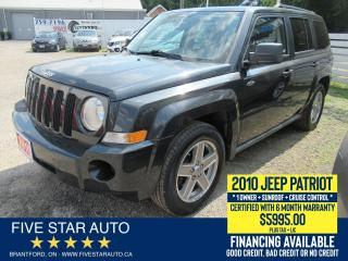 Used 2010 Jeep Patriot North *1 OWNER* Certified + 6 Month Warranty for sale in Brantford, ON