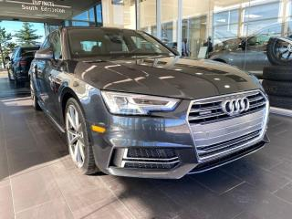 Used 2017 Audi A4 Technik quattro, ACCIDENT FREE, ONE OWNER, SUNROOF, POWER HEATED LEATHER SEATS, NAVI for sale in Edmonton, AB