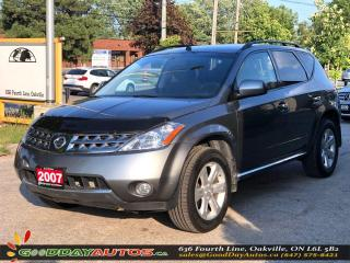 Used 2007 Nissan Murano SL|LOW KM|NO ACCIDENT|AWD|CERTIFIED for sale in Oakville, ON