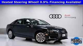 Used 2019 Audi A4 Sedan Komfort w/Convenience Package *Low KM-Local Trade* for sale in Winnipeg, MB