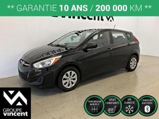 Used 2016 Hyundai Accent GL ** GARANTIE 10 ANS ** Économique, fiable et pratique! for sale in Shawinigan, QC