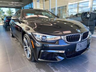 Used 2018 BMW 4 Series 440i xDrive AWD, ONE OWNER, POWER HEATED LEATHER SEATS, NAVI, REAR VIEW CAMERA for sale in Edmonton, AB
