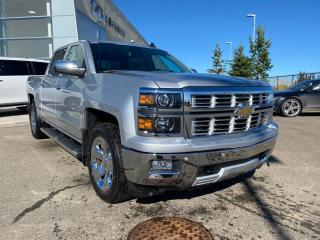 Used 2015 Chevrolet Silverado 1500 LTZ Z71 2LZ, ACCIDENT FREE, HEATED STEERING WHEEL AND LEATHER SEATS, NAVI, REAR VIEW CAMERA for sale in Edmonton, AB