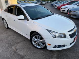 Used 2012 Chevrolet Cruze RS/ NAVI/ SUNROOF/ BLUETOOTH/ TINTED/ SPOILER ++ for sale in Scarborough, ON