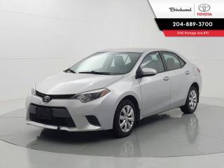 Used 2016 Toyota Corolla LE for sale in Winnipeg, MB