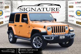 Used 2018 Jeep Wrangler Unlimited Sahara 4x4. ONE OWNER. NAV. ALLOY. POWER GROUP.HARD TOP.AUTO for sale in Mississauga, ON