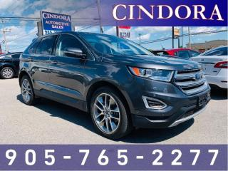 Used 2015 Ford Edge Titanium, AWD, Pano Roof, NAV, Leather for sale in Caledonia, ON
