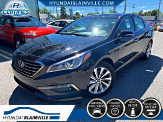 Used 2016 Hyundai Sonata GLS SE CUIR, DÉMAR DISTANCE, TOIT, CAM R for sale in Blainville, QC