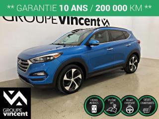 Used 2016 Hyundai Tucson LIMITED GPS CUIR AWD ** GARANTIE 10 ANS ** VUS bien équipé, fiable et pratique! for sale in Shawinigan, QC