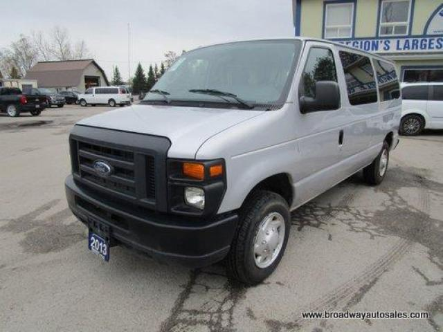 2013 Ford E150 PEOPLE MOVING XL MODEL 12 PASSENGER 4.6L - V8.. EXTENDED-CARGO AREA.. AIR CONDITIONING.. TOW SUPPORT.. AUX INPUT.. SLIDING MIDDLE DOOR..
