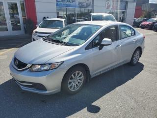 Used 2013 Honda Civic LX for sale in Val-d'Or, QC