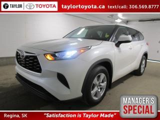 New 2020 Toyota Highlander LE Save $2000 for sale in Regina, SK