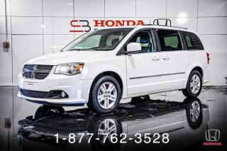 Used 2015 Dodge Grand Caravan CREW + CUIR + 7 PASS + CAMERA + WOW! for sale in St-Basile-le-Grand, QC