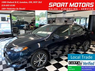 Used 2018 Toyota Corolla LE+Sunroof+Heated Steering & Seats+Accident Free for sale in London, ON