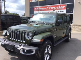 New 2021 Jeep Wrangler Unlimited SAHARA 4X4 / NAV / LEATHER / TOW PKG for sale in Milton, ON