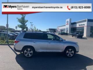 Used 2013 Toyota Highlander 4WD V6  -  Sunroof -  Leather Seats - $188 B/W for sale in Ottawa, ON