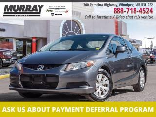 Used 2012 Honda Civic COUPE 2dr Auto LX for sale in Winnipeg, MB