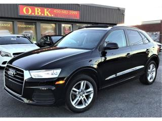 Used 2016 Audi Q3 Quattro-2.0T-Komfort-TOIT PANORAMIQUE-BLUETOOTH for sale in Laval, QC