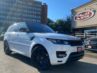 Used 2017 Land Rover Range Rover Sport CLEAN CARFAX | V8 5.0L SUPERCHAGED |NAVI | CAM | PANO | for sale in Scarborough, ON
