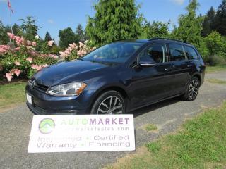 Used 2016 Volkswagen Golf Wagon LOCAL, AUTO, KOMFORT, INSP, BCAA MBSHP, WARRANTY, FINANCING! for sale in Surrey, BC