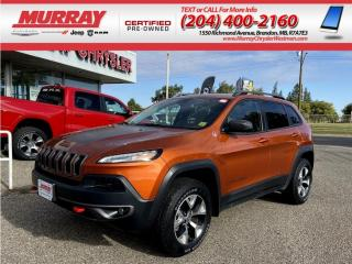 Used 2015 Jeep Cherokee 4WD Trailhawk *Heated Seats/Steering* *Remote Star for sale in Brandon, MB