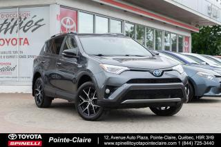 Used 2017 Toyota RAV4 Hybrid ***RÉSERVÉ***SE AWD CUIR, TOIT, MAGS for sale in Pointe-Claire, QC