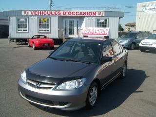Used 2005 Honda Civic DX-G for sale in Saint-jean-sur-richelieu, QC