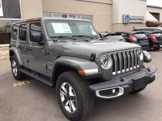 New 2021 Jeep Wrangler Unlimited SAHARA 4X4 / NAV / 2 TOPS / TOW PKG for sale in Milton, ON