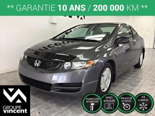 Used 2011 Honda Civic COUPE DX-G ** GARANTIE 10 ANS ** Roulez en Honda Civic à prix abordable! for sale in Shawinigan, QC