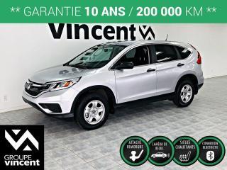 Used 2016 Honda CR-V LX ** GARANTIE 10 ANS ** Fiable et plaisant à conduire, le CRV aura tout pour vous plaire! for sale in Shawinigan, QC