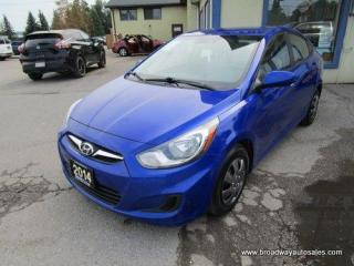 Used 2014 Hyundai Accent FUEL EFFICIENT GLS MODEL 5 PASSENGER 1.6L - DOHC.. ACTIVE-ECO-PACKAGE.. HEATED SEATS.. CD/AUX/USB INPUT.. KEYLESS ENTRY.. BLUETOOTH SYSTEM.. for sale in Bradford, ON