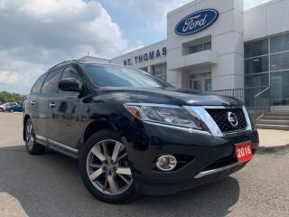 Used 2016 Nissan Pathfinder Platinum Platium AWD/Leather/Navi/Roof/DVD Headrest for sale in St Thomas, ON