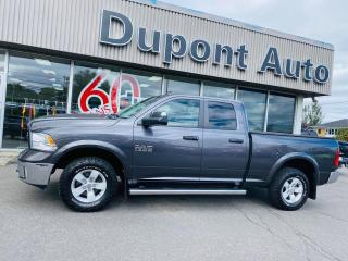 Used 2016 RAM 1500 Cabine quad 4RM, 140,5po Outdoorsman for sale in Alma, QC