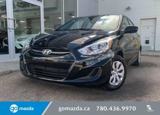 Used 2017 Hyundai Accent L - MANUAL, CLOTH, POWER OPTIONS,STILL HAS MANUFACTURES WARRANTY!!! for sale in Edmonton, AB