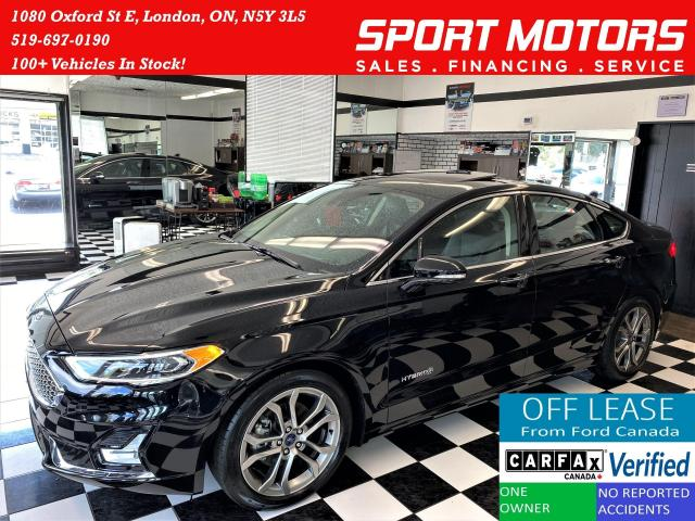 2019 Ford Fusion Hybrid Titanium+GPS+Cooled Seats+Tech PKG+ACCIDENT FREE