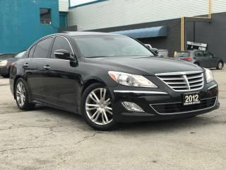 Used 2012 Hyundai Genesis Pkg|Navi|Leather|Sunroof|Accident free for sale in Burlington, ON