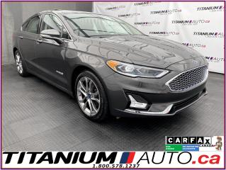 Used 2019 Ford Fusion Hybrid Titanium+GPS+Cooled Leather+Blind Spot+Lane Assist for sale in London, ON