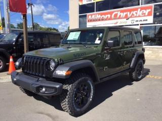 New 2021 Jeep Wrangler Unlimited Willys for sale in Milton, ON