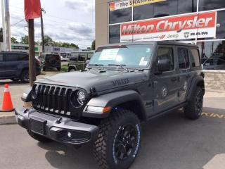New 2021 Jeep Wrangler Unlimited WILLYS 4X4 / DUAL TOPS / ALPINE SOUND for sale in Milton, ON