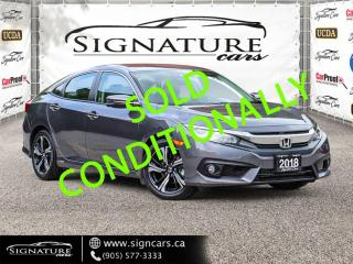 Used 2018 Honda Civic Sedan Touring CVT ONE OWNER!CLEAN CARFAX! LEATHER! NAVIGATION for sale in Mississauga, ON