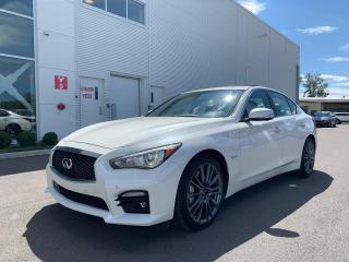 Used 2016 Infiniti Q50 Red Sport 400 Financement disponible for sale in Terrebonne, QC